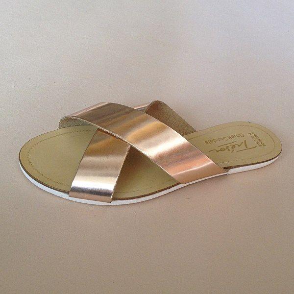 Greek Sandals (Δερμάτινα :: Πέδιλα, Σαγιονάρες, Παντόφλες) @ www.GreekShoes.Net > Κωδικός: 260.514 > Μεγέθη: Νο.35-Νο.41 (τιμή 30€) & Νο.42-Νο.45 (τιμή 40€) > Σόλα: Σφήνα ή Φλάτ | Λευκή ή Μπέζ > Χρώματα: Ταμπά, Μαύρο, Άσπρο, Φυσικό, Χρυσό, Χαλκός, Κοραλί, Κίτρινο, Μπλε