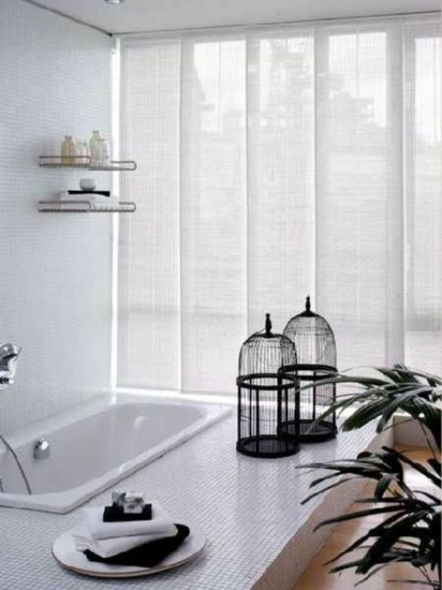 Panneaux japonais conviennent même à la salle de bains