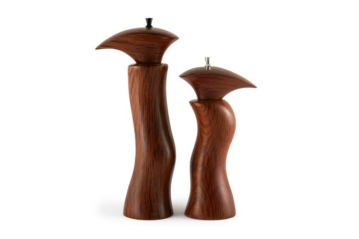 Sculptured She Oak Salt & Pepper Mills | Australian Woodwork