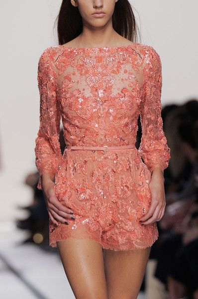 I love Elie Saab although I could never afford it. Matches the pink stone & rose gold band.