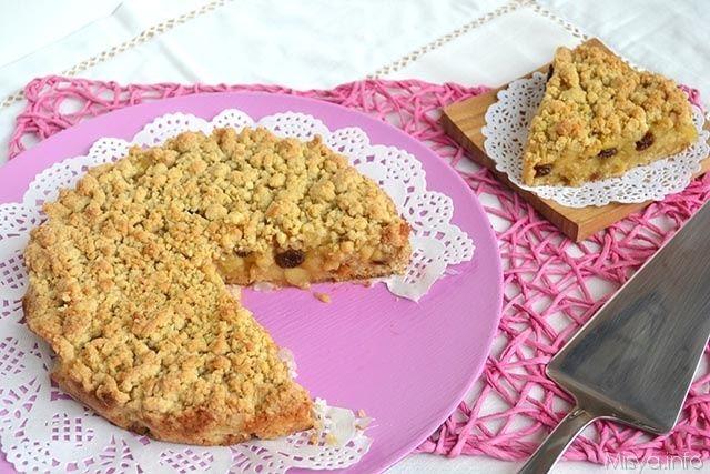 Sbriciolata di mele, scopri la ricetta: http://www.misya.info/2015/10/19/sbriciolata-di-mele.htm