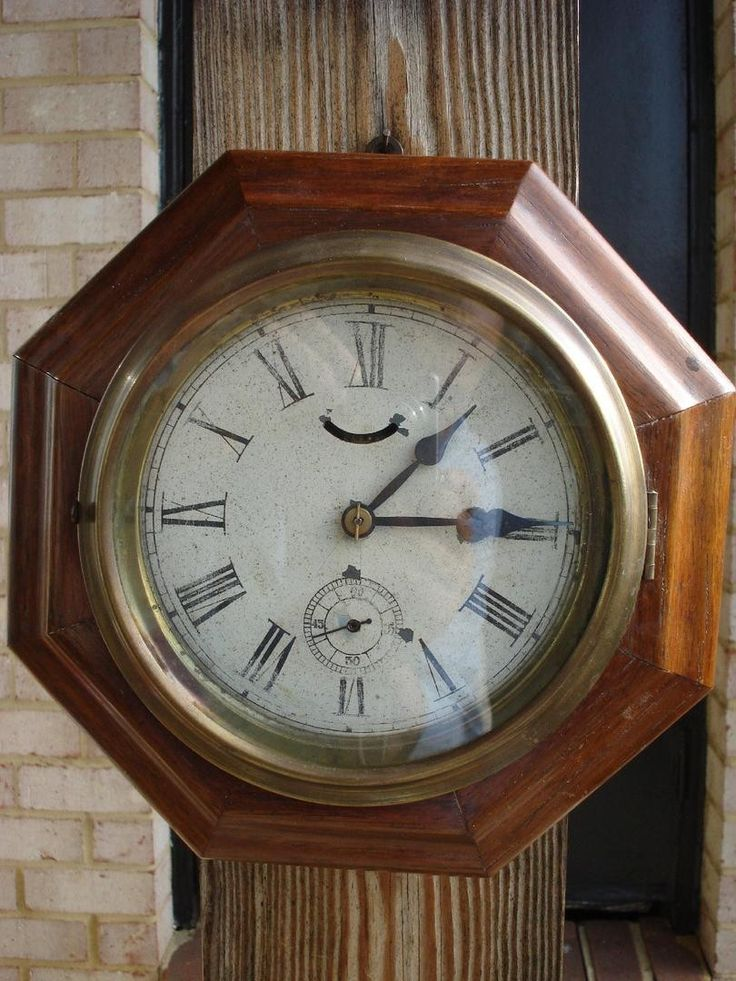 For sale an antique Waterbury Lever Gallery wall clock. Case in nice shape, a little scratching on the bottom. Dial shows some wear but is original. The clock is working and keeping good time. Has a g
