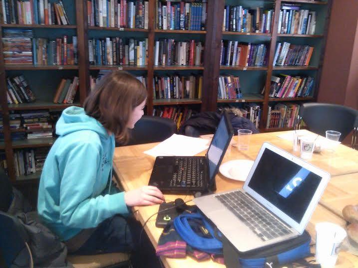 Editor Julia T. at Writers & Books