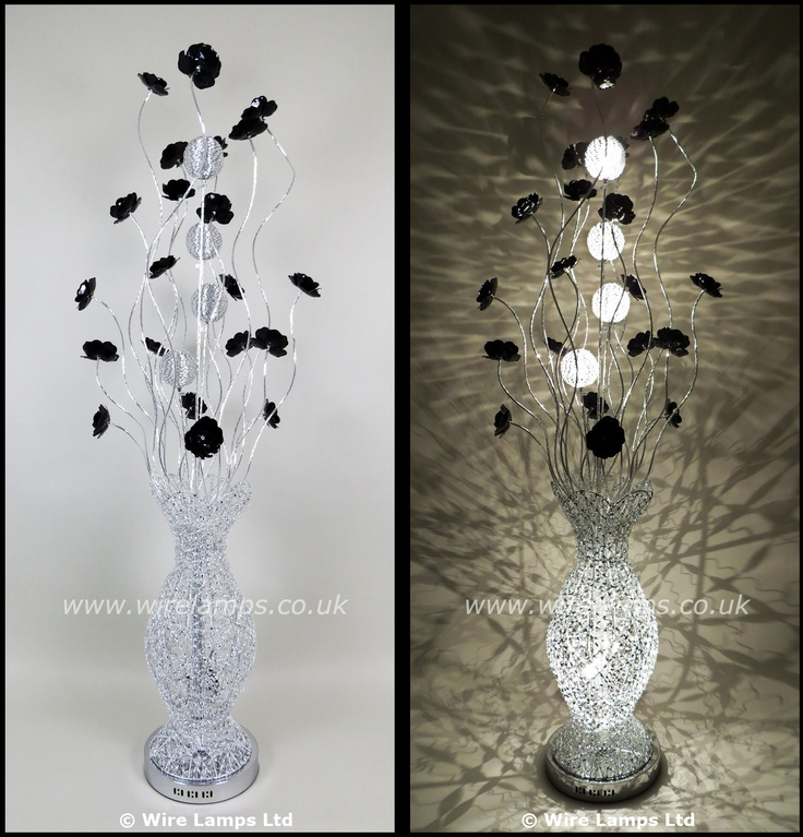 29 best images about floor wire lamps on pinterest for Aluminium flower floor lamp in silver red