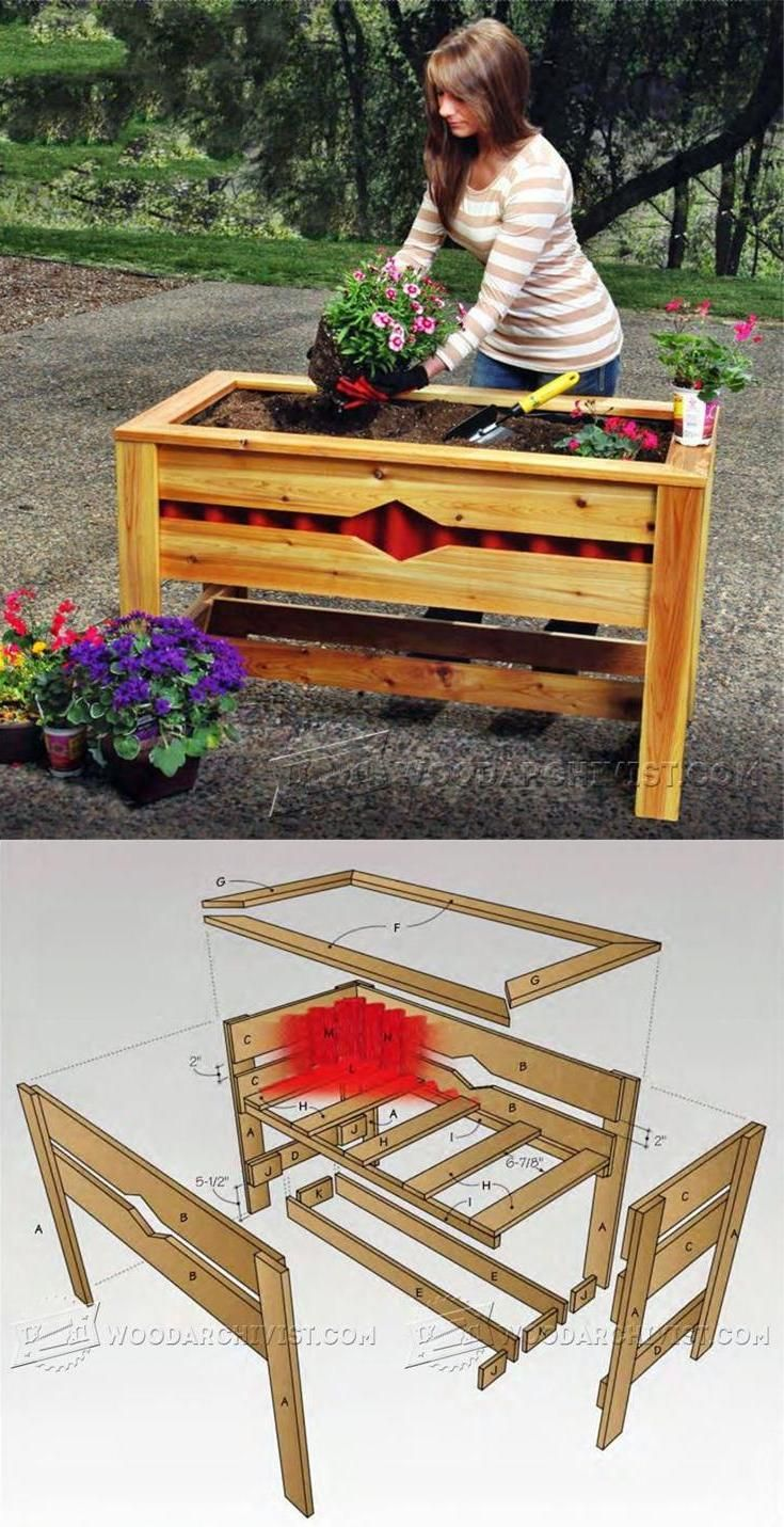 best 25 planter box plans ideas on pinterest wooden. Black Bedroom Furniture Sets. Home Design Ideas