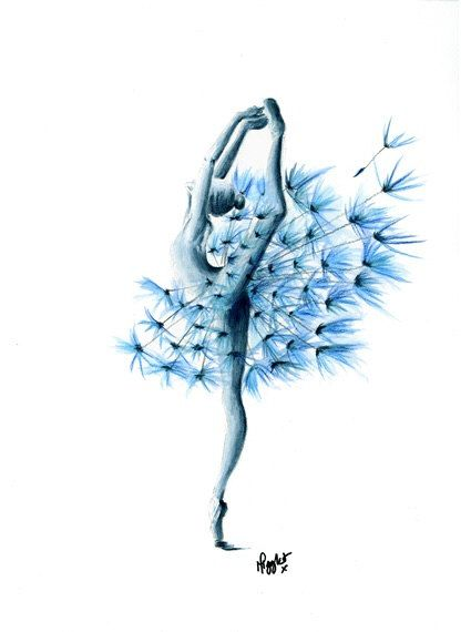 Ballet Dancer Print Print of my Ballet Dancer by ArtyMigglet