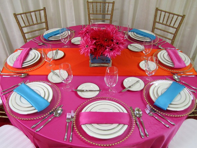 Decoração de mesa para o Carnaval: Wedding Parties, Tables Sets Wedding, Table Setting Wedding