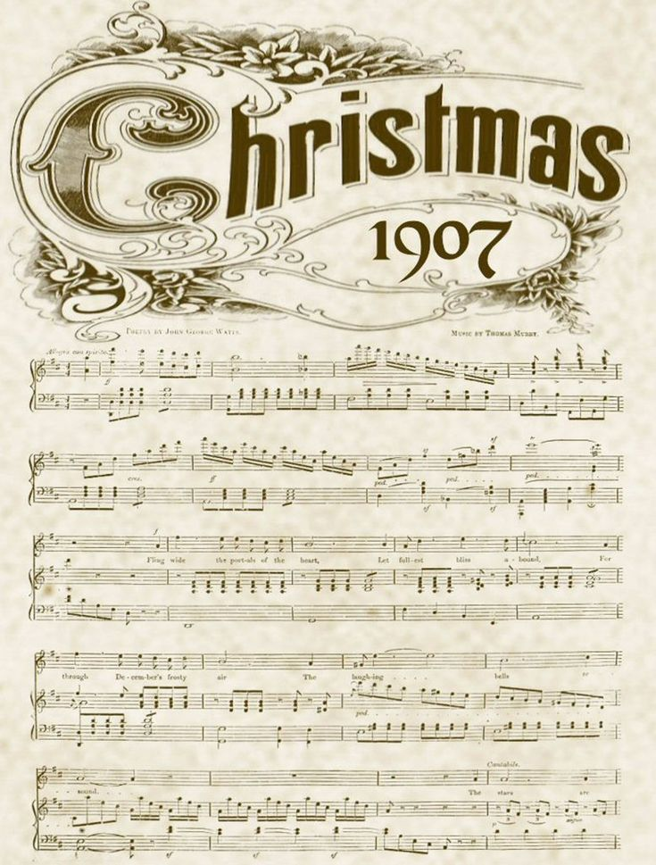 Christmas music printable