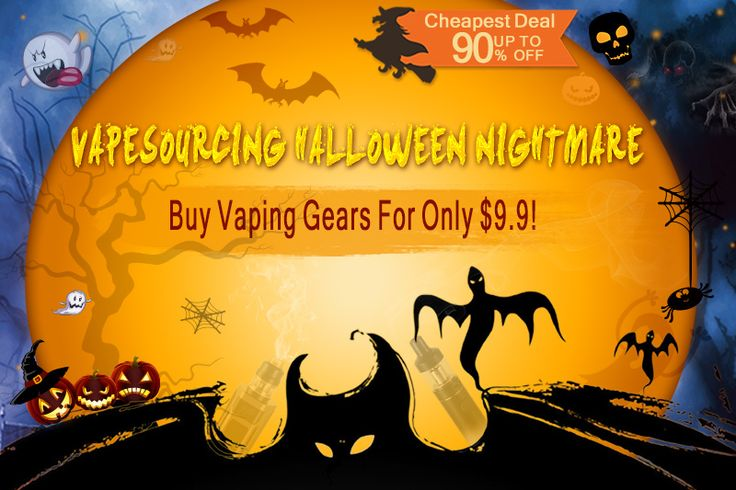 Scarily low prices at the Vape Sourcing Halloween sale including the Vandy Vape Pulse BF Squonk Box Mod for just £20.33 and up to 90% OFF other vaping gear!