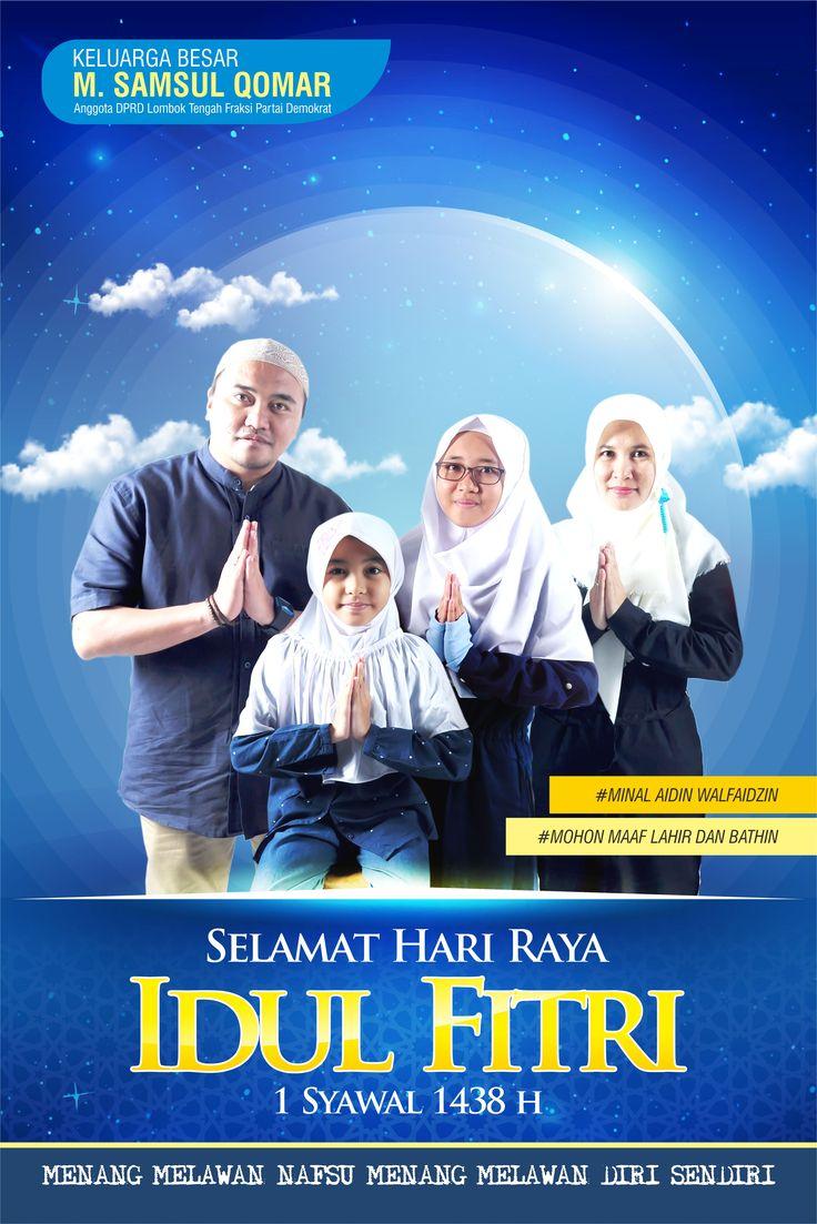 Design x banner pernikahan - Poter Idul Fitri 1438 H Client Samsul Qomar