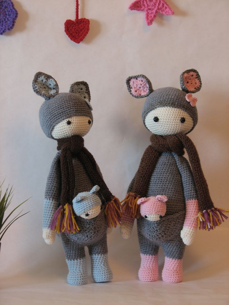 KIRA the kangaroo made by Mar L. / crochet pattern by lalylala