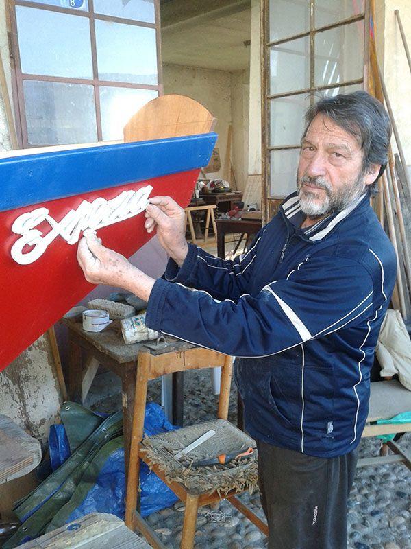 Emilio Francescon maestro scultore, collaboratore nella costruzione della barca #experiaitalia #raiexpo #padiglioneitalia #politecnicodimilano #expo2015 #viaggio #barca #Po #fiume #italia #viaggio #Valenza