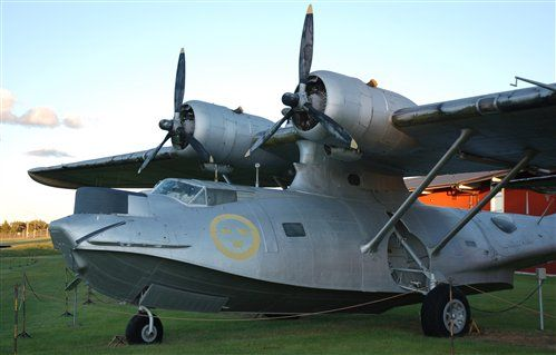 This Consolidated Catalina flew with the Swedish air force between 1947 and 1966, and doesn't look too bad after over 40 years of museum service. It was one of three examples acquired from surplus Canadian stocks after World War Two. Swedish air force museum.