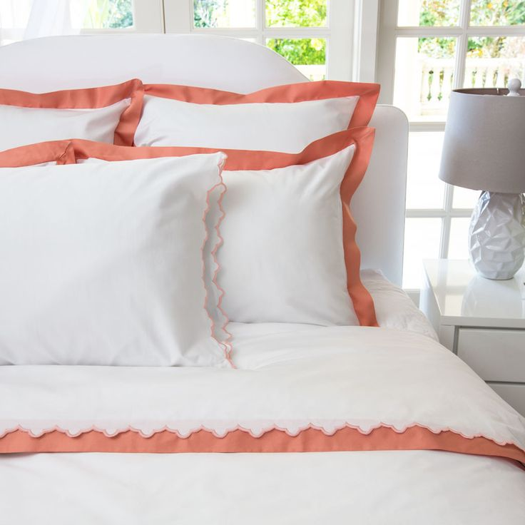 coral linden border duvet cover twin twin xl beautiful With coral and white duvet cover
