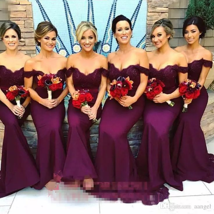 Gorgeous Arabic Burgundy Lace Bridesmaid Dresses 2017 Mermaid Off Shoulder Ruffled Vintage Garden Wedding Guest Maid Of Honor Dress Bridesmaid Dresses With Lace Bridesmaids Dresses Cheap From Aangel, $78.51| Dhgate.Com