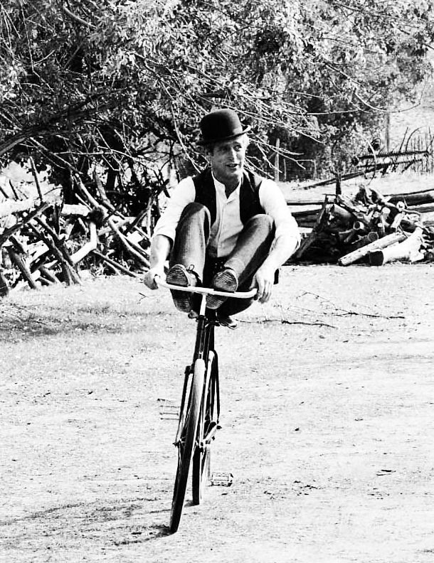 Paul Newman on the set of Butch Cassidy and the Sundance Kid, 1969.