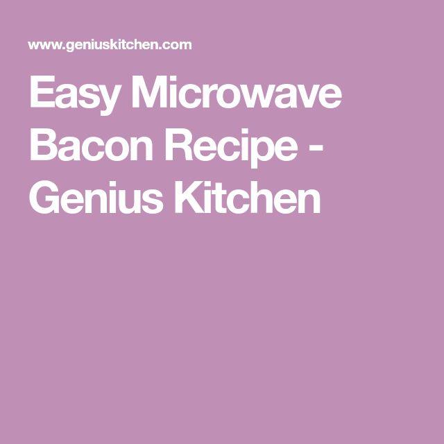 Easy Microwave Bacon Recipe - Genius Kitchen