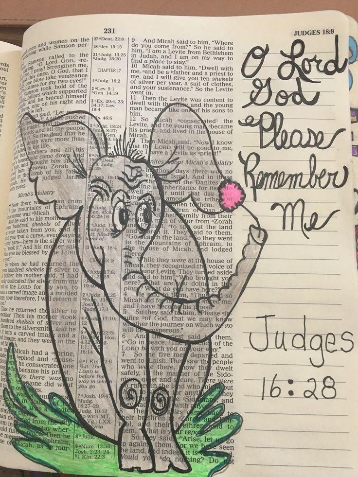 Judges 16:28 #biblejournaling