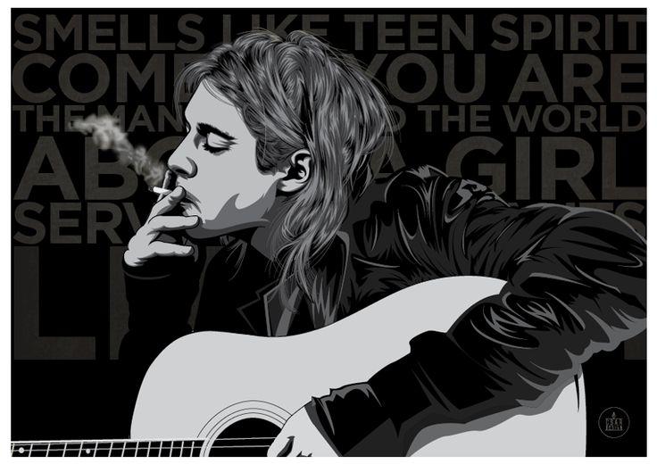 Illustration #KurtCobain #Vector #Nirvana #design #Illustrator