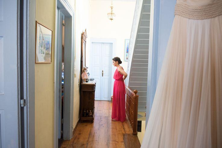 TARSANAS WEDDING PARTY-SYROS bridesmaid pink dress  bridal gown Ioanna Kourbela | lafete