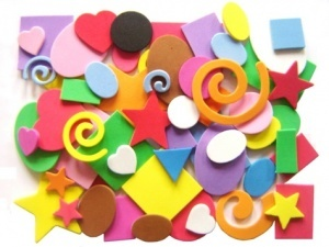 Foam Craft shapes - use for Diwali cardmaking