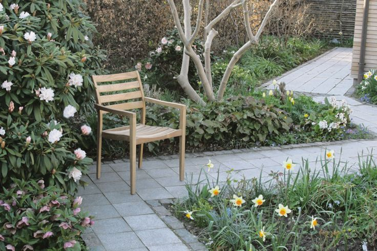 York stackable chair in environmentally friendly teak.