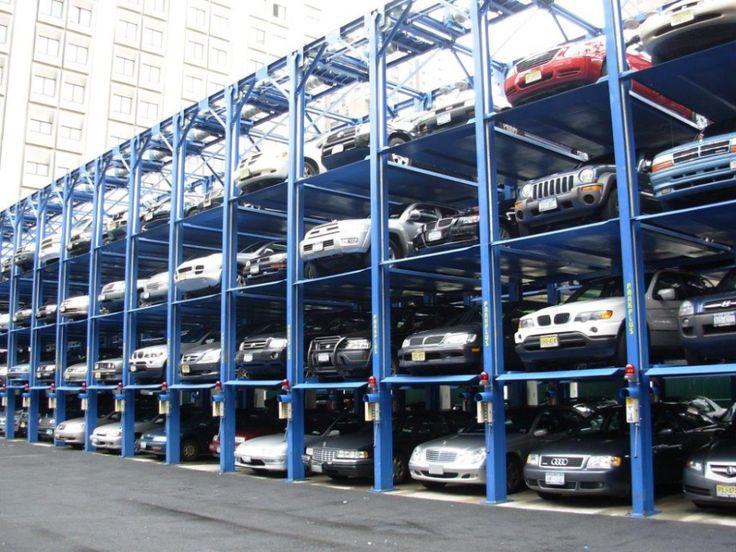 Parking Lot Trucks Garage Cars