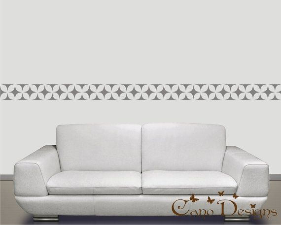 thinking of having it done in orange and white @canodesigns.  It's a #removable wall border.