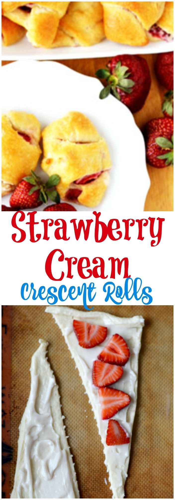 Strawberry Cream Crescent Roll Recipe is an summer snack made with fresh strawberries. This is definitely a kid approved snack that can be made dairy free. And this snack is so quick to make.