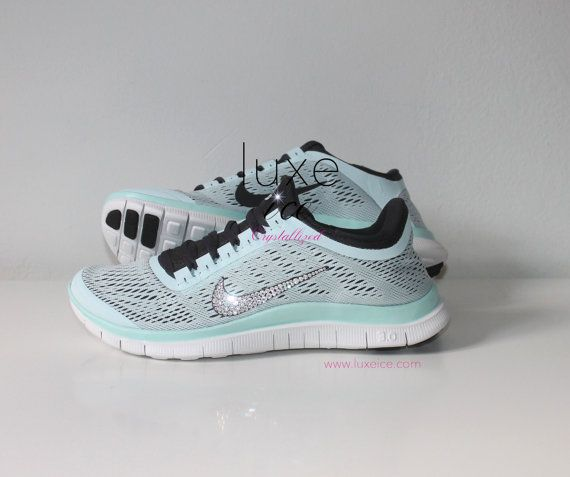 Nike Run Free   Shoes W Swarovski Crystals