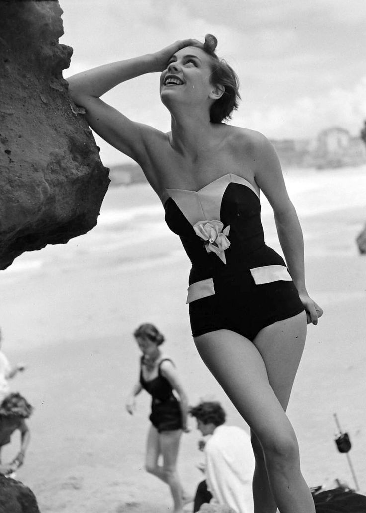 This would still fly! Summer Beach Fashion, 1951  #fashion #swimwear #santabarbarastyle