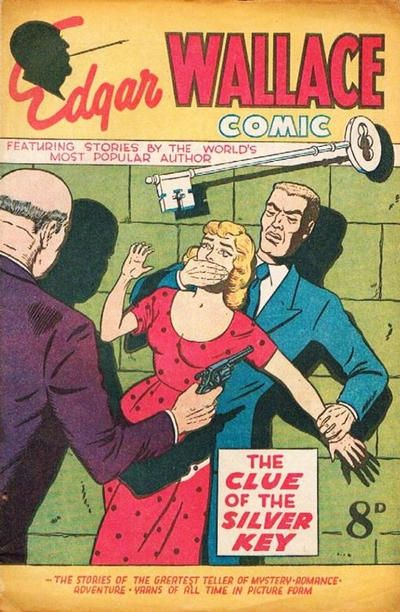 "Edgar Wallace Comic ""The Clue of the Silver Key""  1950"