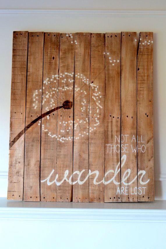 Reclaimed Wood Art Sign Dandelion Not all