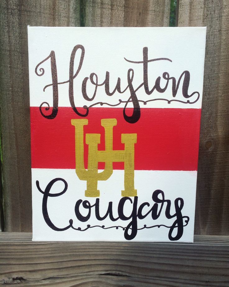 University of Houston Cougars canvas now available on anchors away artwork etsy page