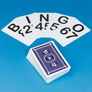 $7.99- Jumbo Bingo Calling Cards (set of 75) : S&S Worldwide