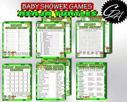 Ninja Turtle Baby Shower Games Set
