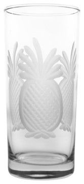 Pineapple Cooler 15oz, Set of 4 - tropical - cups and glassware - Rolf Glass