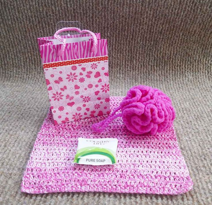 Cotton face washer and nylon shower scrubby set. Set come with an Australian-made soap and gift bag. AU$12 plus shipping