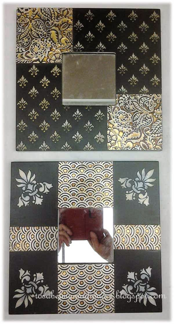 Las 25 mejores ideas sobre marcos decorativos en pinterest for Espejos con marco de madera decorados