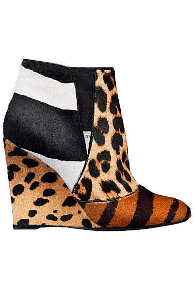 Dior Animal Print Wedge Ankle Boot Pre-Fall 2014 #Shoes #Wedges #Heels