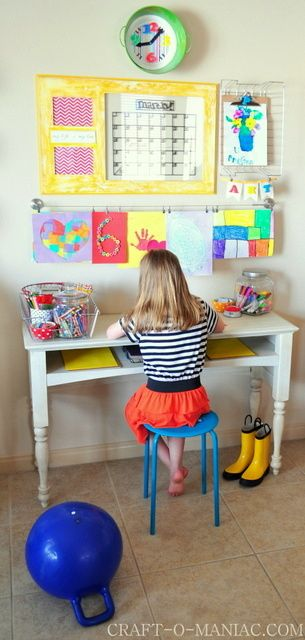 Kids can show off their art in this fun learning space!