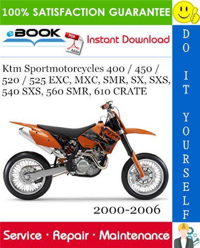 Ktm Sportmotorcycles 400    450   520  525 Exc Mxc Smr  Sx