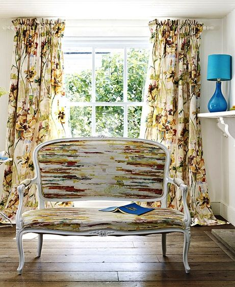 These Elegant Curtains Flow Onto The Floor, Adding Glamour As Well As A  Perceived Dimension · Wooden Curtain PolesWooden ... Design Inspirations