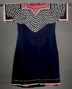 native american jingle dress pictures | priceguide, native american, America, A Crow woman's Cowry shell dress ...