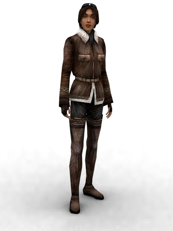 Kate Walker (Syberia 2 3D Model)