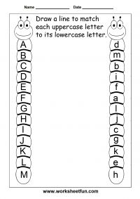 Letter Tracing Worksheets For Kindergarten – Capital Letters – Alphabet Tracing – 26 Worksheets / FREE Printable Worksheets – Worksheetfun