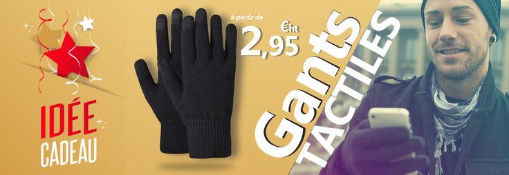 Super Promo sur cpix.fr, les gants tactiles noirs à seulement 2,95€. Plus besoin d'enlever ses gants pour se servir de son Smartphone