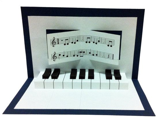 Pop-up piano anniversaire carte par mamtt sur Etsy
