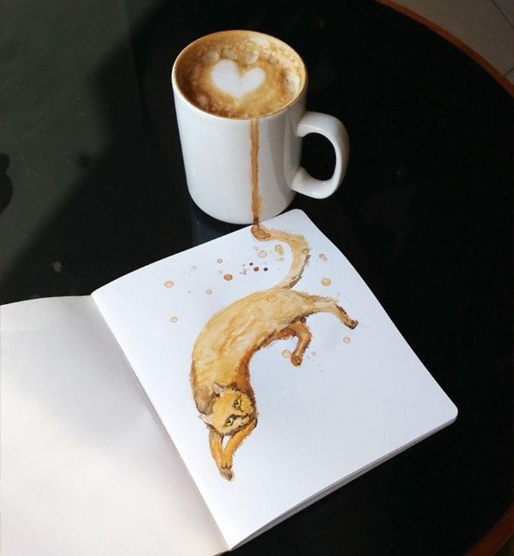 http://www.watson.ch/Katze/Tier/687496983-Bei-diesen-genialen-Zeichnungen-ensteht-aus-einer-Tasse-Kaffee-die-passende-Katze