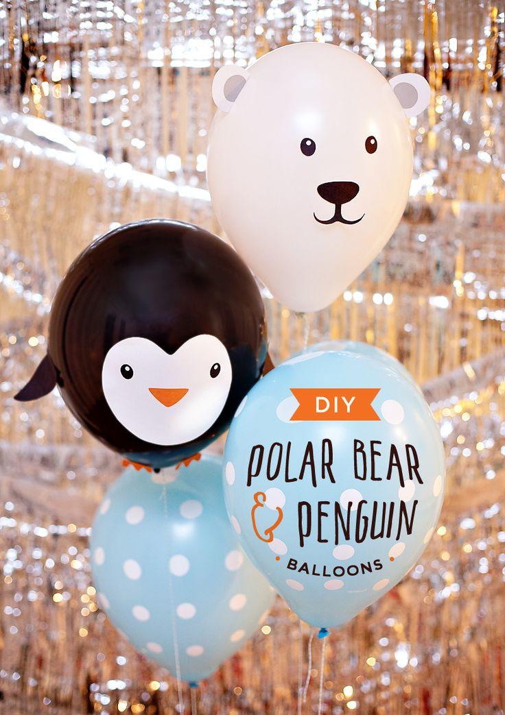 DIY Penguin & Polar Bear Party Balloons // Hostess with the Mostess®